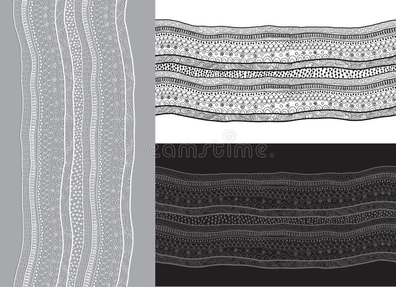 Teste padrão sem emenda da fita abstrata do laço. ilustração royalty free