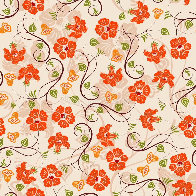 Teste padrão sem emenda da flor ilustração royalty free