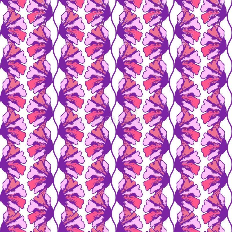 Teste padrão sem emenda da flor colorida estilizado para seu projeto Ilustração gráfica do vetor Teste padrão floral sem emenda,  ilustração stock