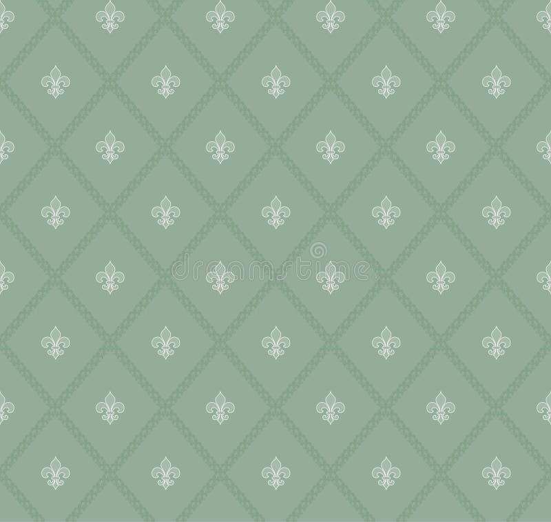 Teste padrão sem emenda da flor de lis ilustração stock
