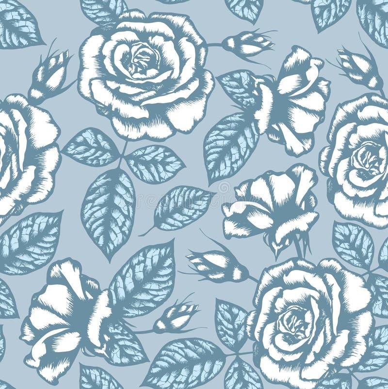 Teste padrão sem emenda da flor retro ilustração do vetor