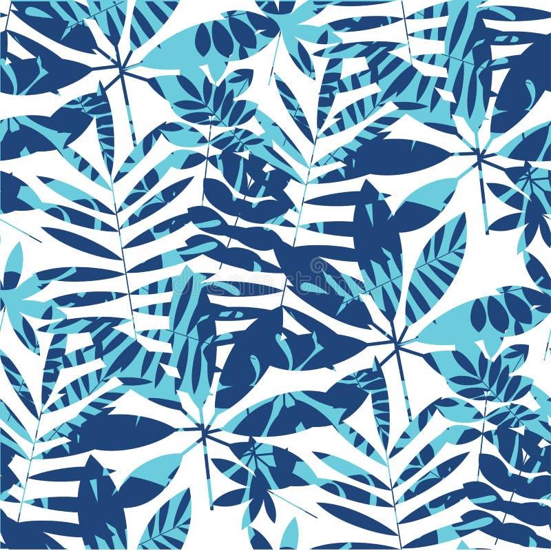 Teste padrão sem emenda da folha brilhante vívida da selva ilustração stock