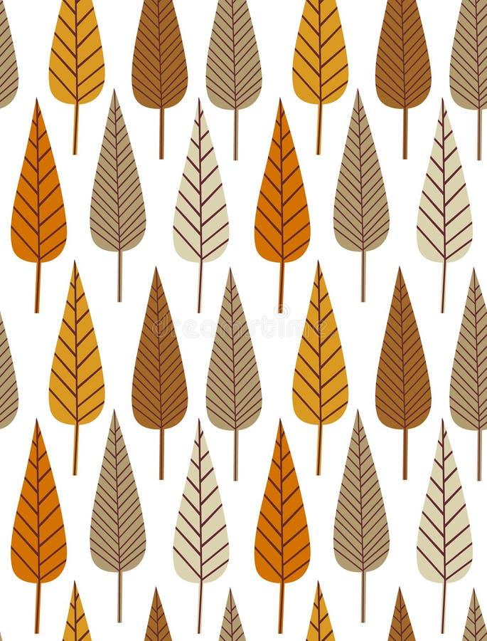 Teste padrão sem emenda da folha do outono