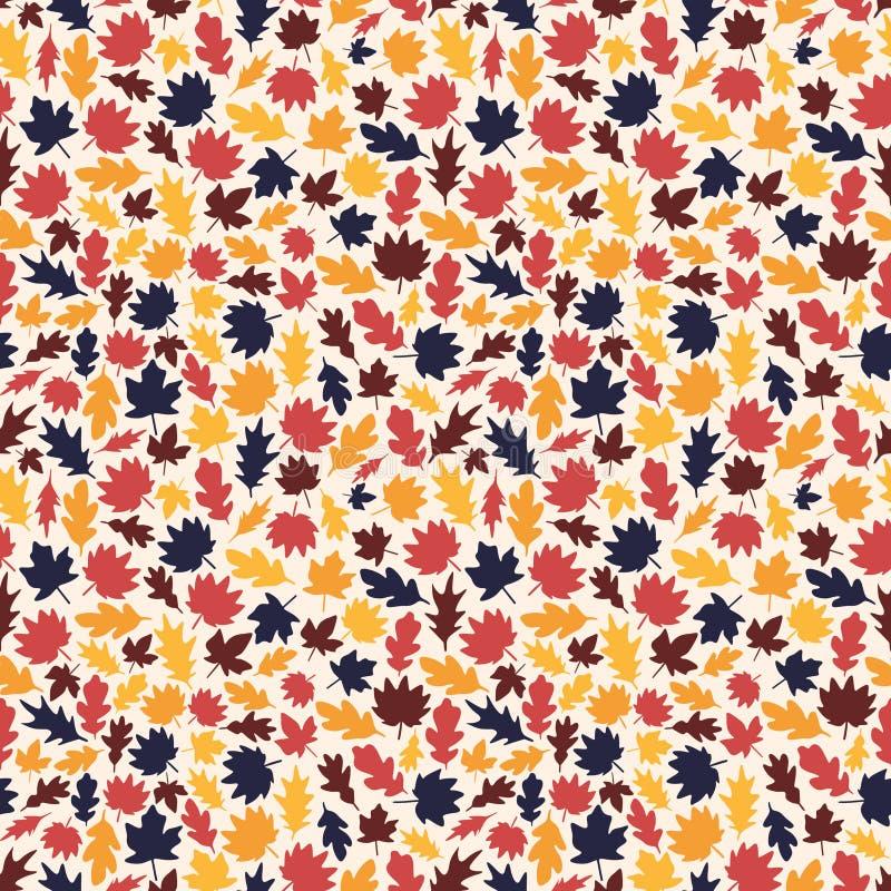 Teste padrão sem emenda da folha do outono do vetor foto de stock