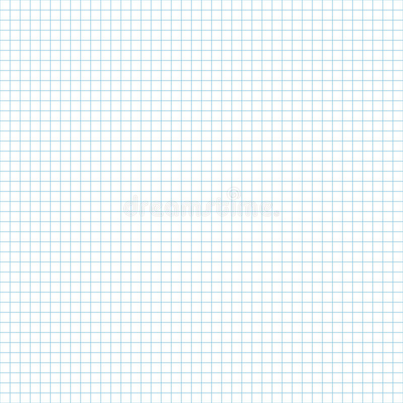 Teste padrão sem emenda da folha do papel do caderno da escola Fundo infinito da página do livro de exercício Contexto esquadrado ilustração stock
