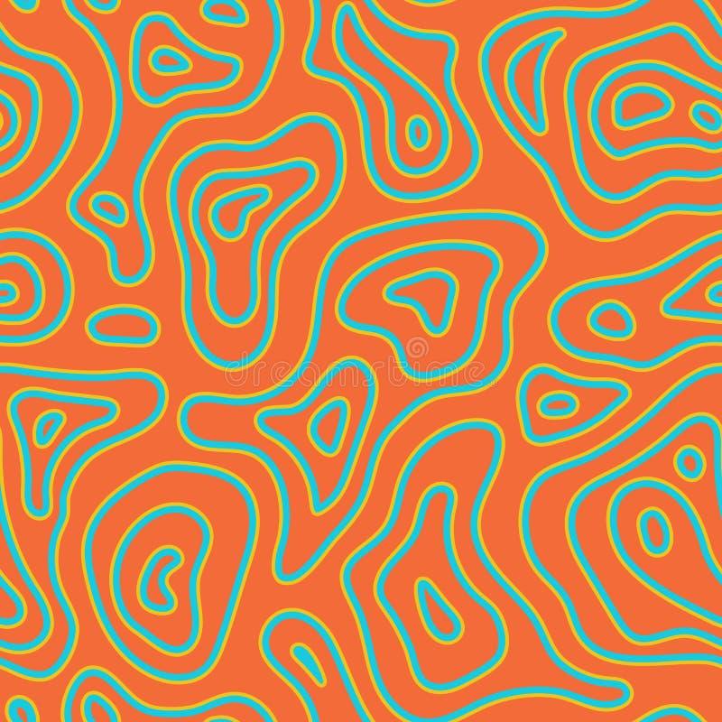 Teste padrão sem emenda da forma exótica abstrata Textura selvagem natural do fundo do africano étnico Ornamento batic do ofício  ilustração royalty free