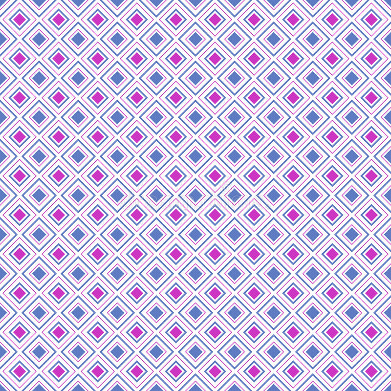Teste padrão sem emenda da forma geométrica abstrata do diamante, vetor ilustração stock