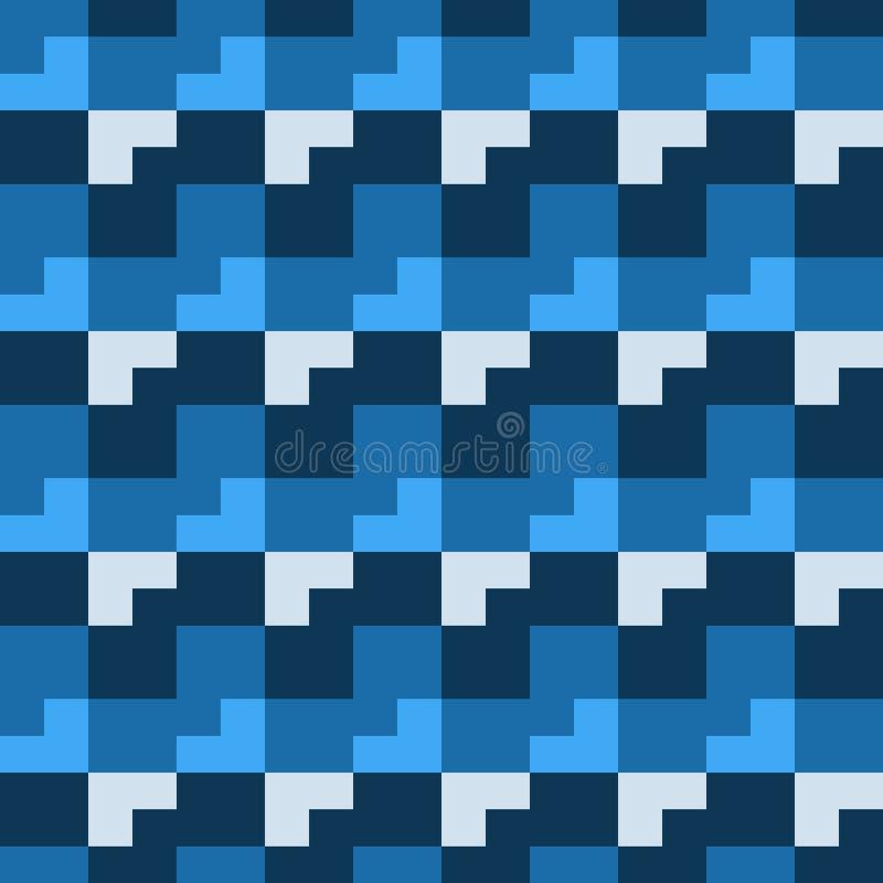 Teste padrão sem emenda, da forma geométrica diferente ilustração stock