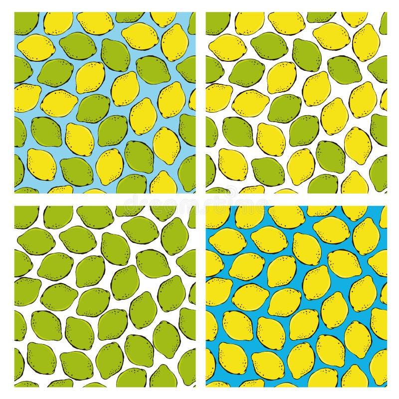 Teste padrão sem emenda da garatuja citrina ilustração do vetor