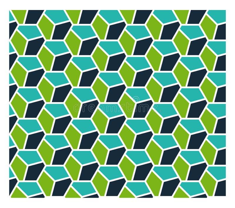 Teste padrão sem emenda da geometria ilustração royalty free
