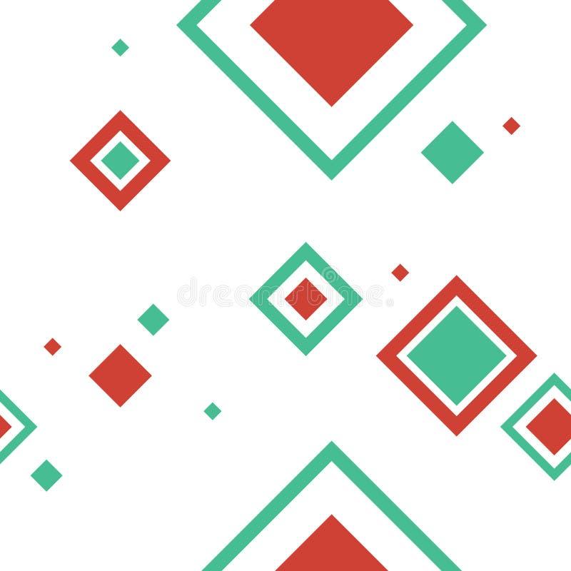 Teste padrão sem emenda 2 da geometria do Xmas imagens de stock royalty free
