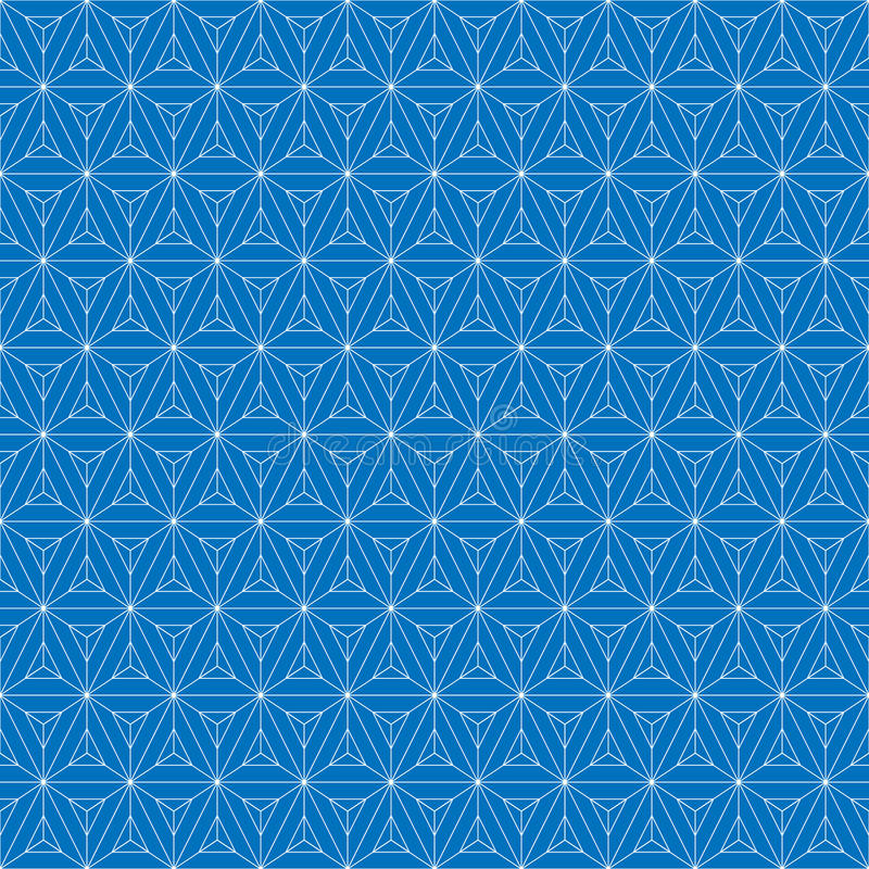 Teste padrão sem emenda da grade Cubo geométrico, efeito da estrela Projeto gráfico da forma Ilustração do vetor Projeto do fundo ilustração stock