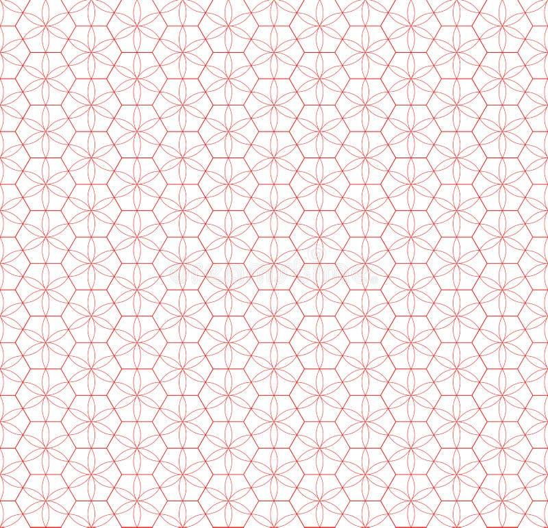 Teste padrão sem emenda da grade Efeito geométrico da estrela Projeto gráfico da forma Ilustração do vetor Projeto do fundo Abstr ilustração do vetor