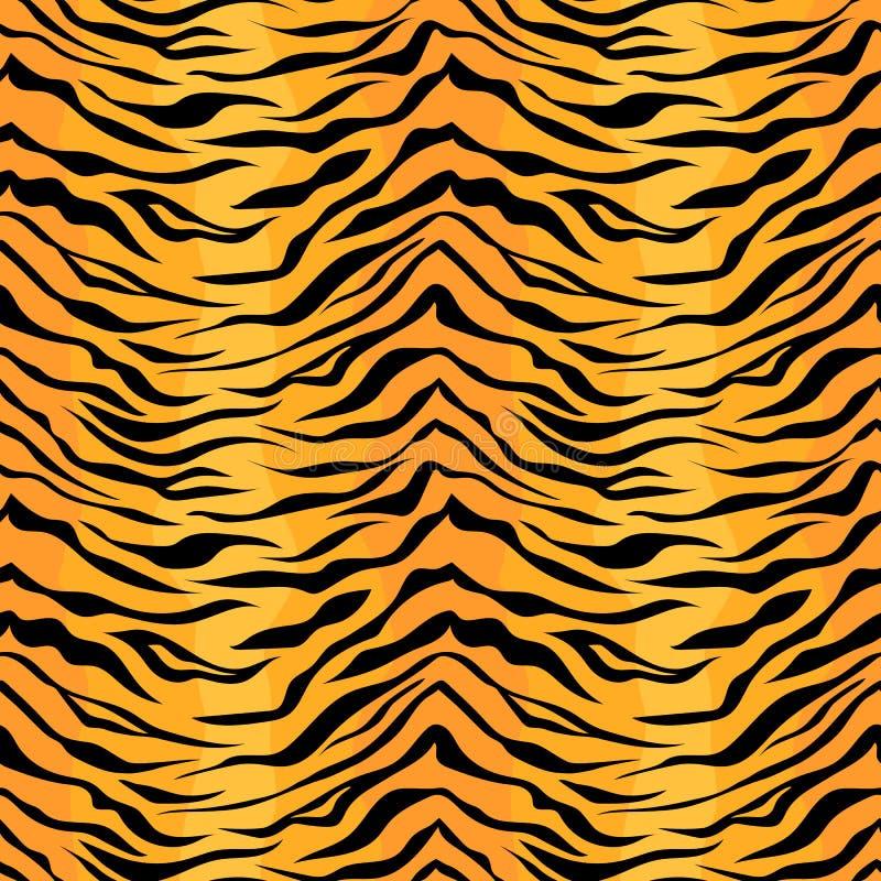 Teste padrão sem emenda da listra do tigre ilustração royalty free