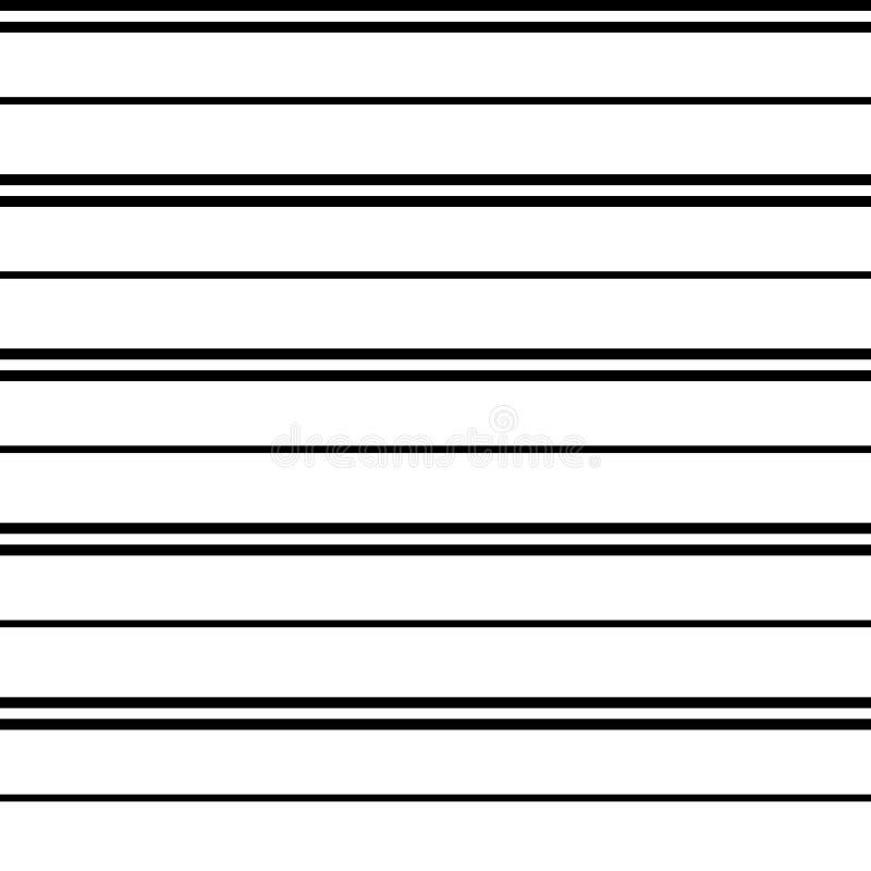 Teste padrão sem emenda da listra do vetor com as listras paralelas horizontais ilustração royalty free