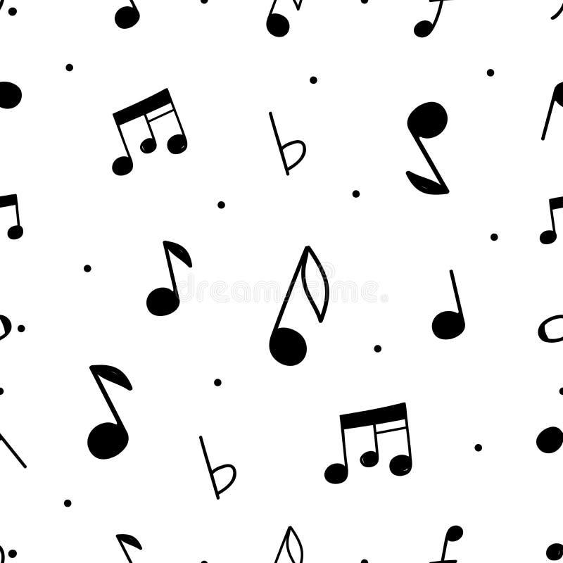 Teste padrão sem emenda da música do vetor ilustração stock