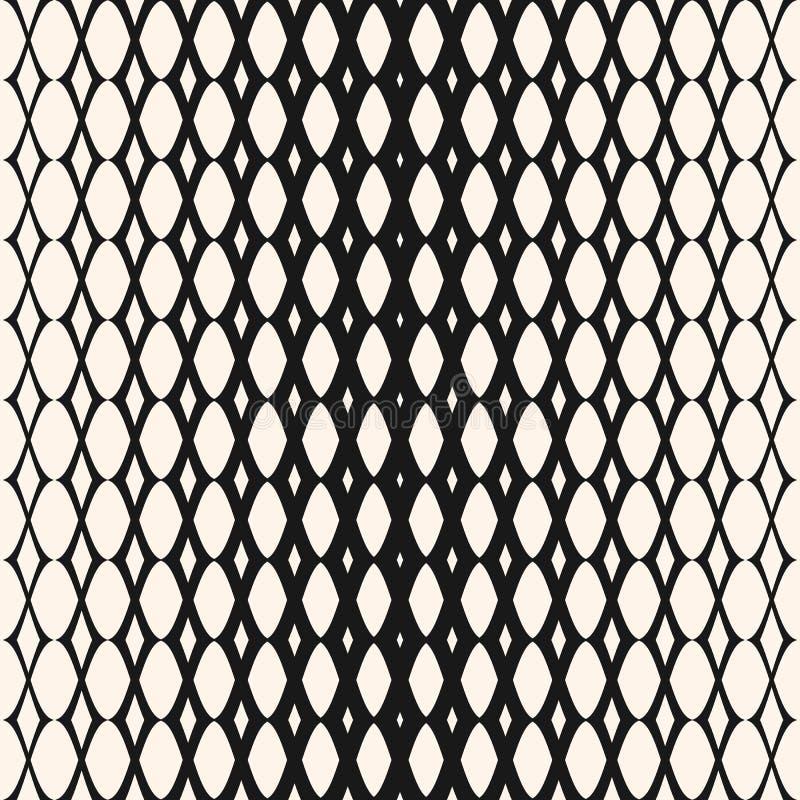 Teste padrão sem emenda da malha de intervalo mínimo Projeto da forma do moderno ilustração do vetor