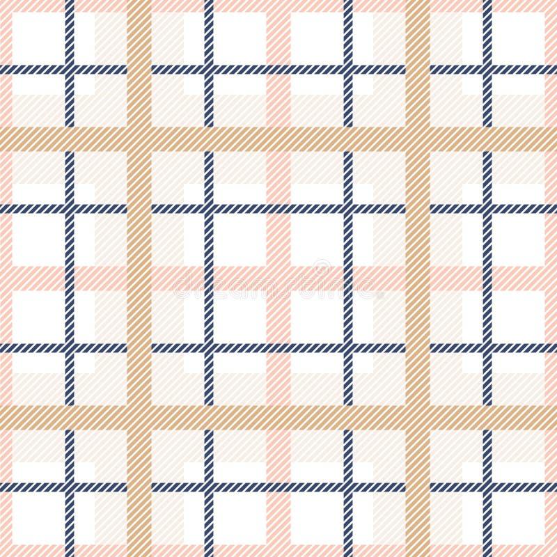 Teste padrão sem emenda da manta de tartã Fundo do vetor da tartã das cores pastel ilustração royalty free