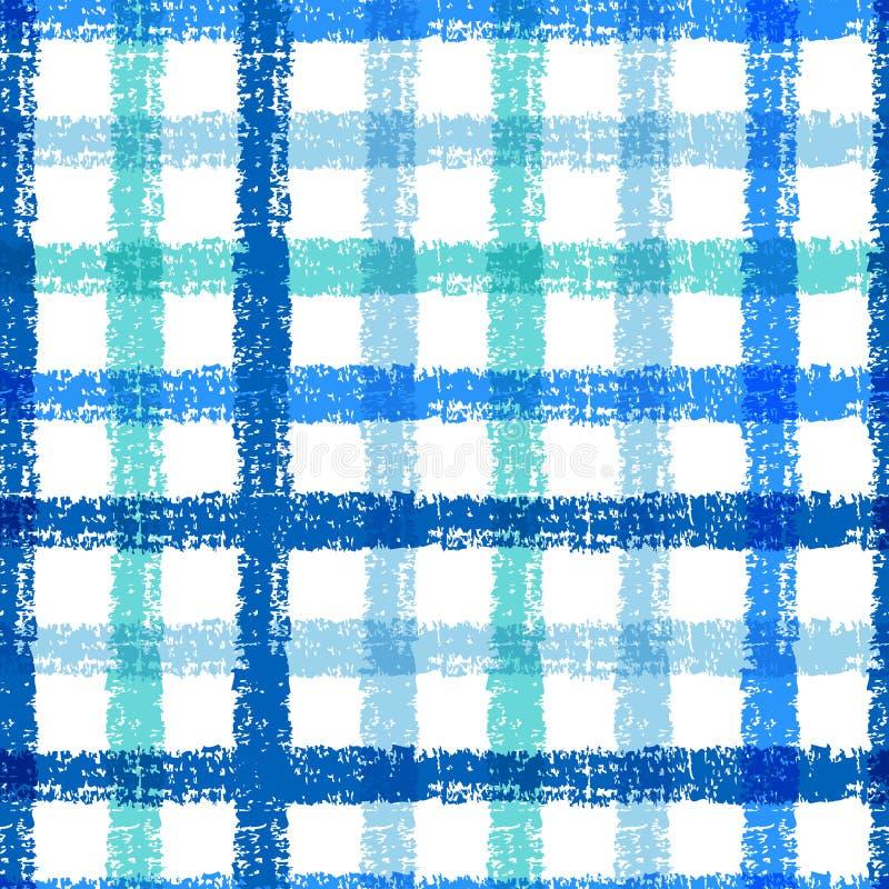 Teste padrão sem emenda da manta do esboço do lápis com listras coloridas Vect ilustração royalty free