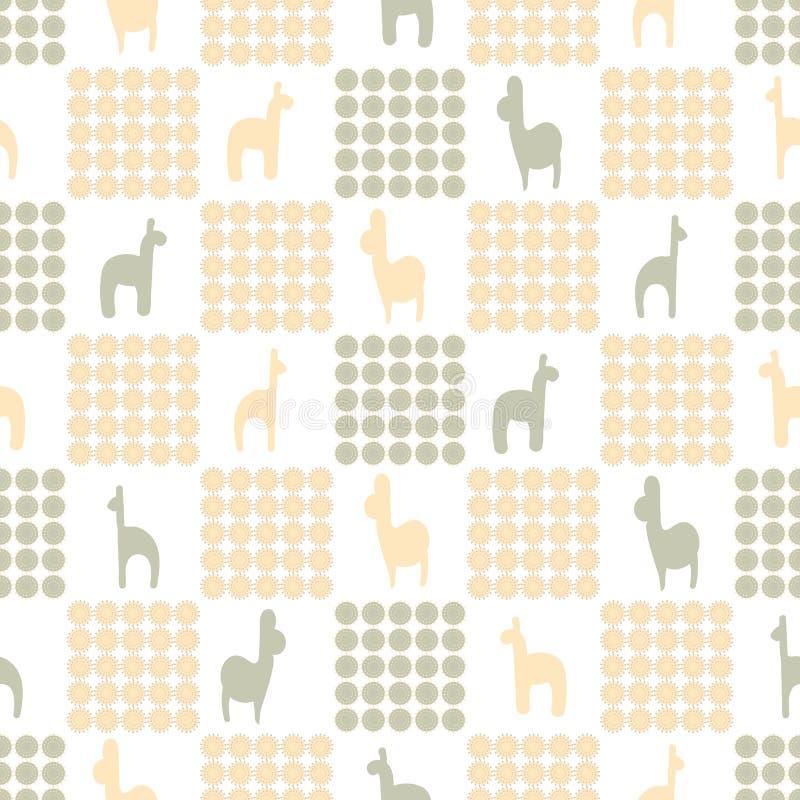 Teste padrão sem emenda da manta do vetor com os animais nas cores pastel ilustração royalty free