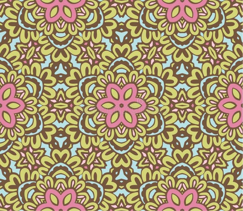 Teste padrão sem emenda da mola do vetor com flores ilustração stock