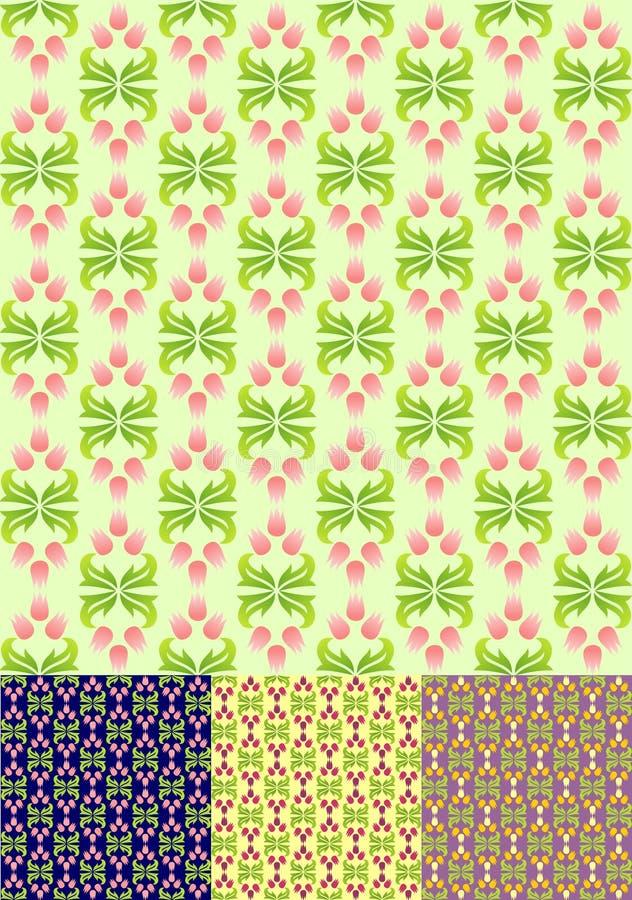 Teste padrão sem emenda da mola floral   ilustração royalty free