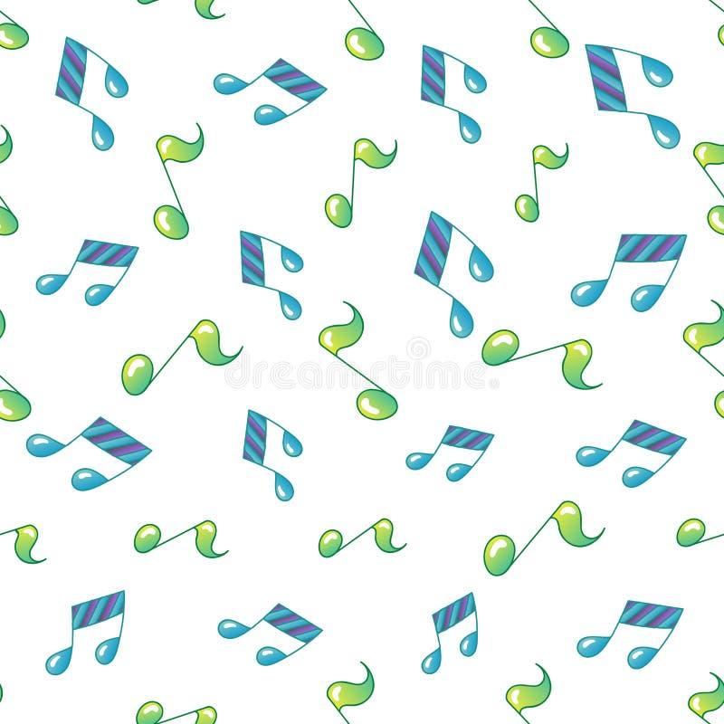 Teste padrão sem emenda da nota simples da música ilustração royalty free