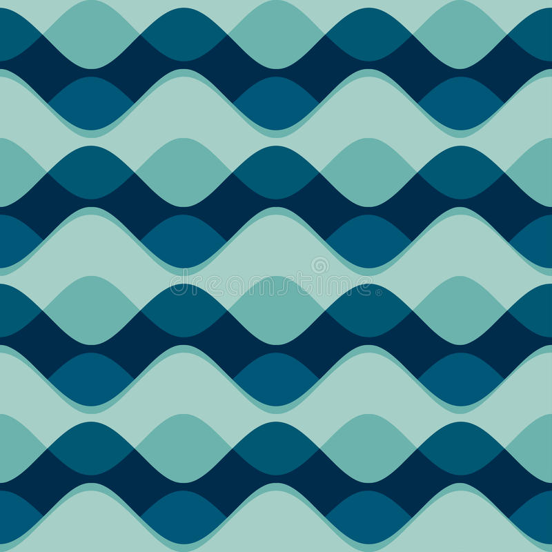 Teste padrão sem emenda da onda ilustração stock