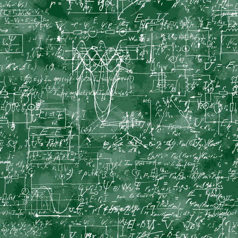 Teste padrão sem emenda da operação matemática e da equação ilustração do vetor