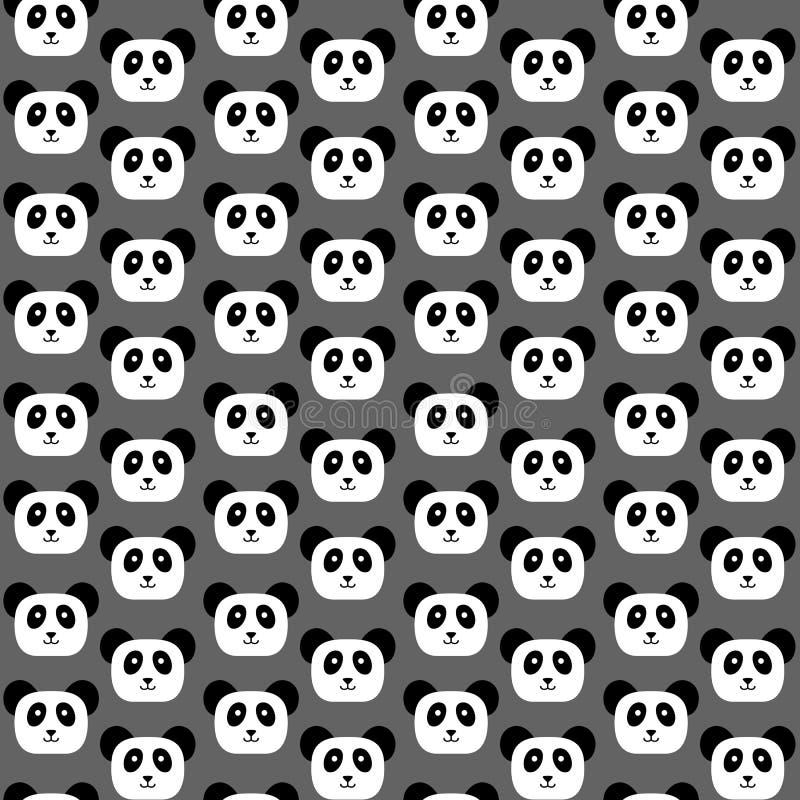 Teste padrão sem emenda da panda ilustração stock