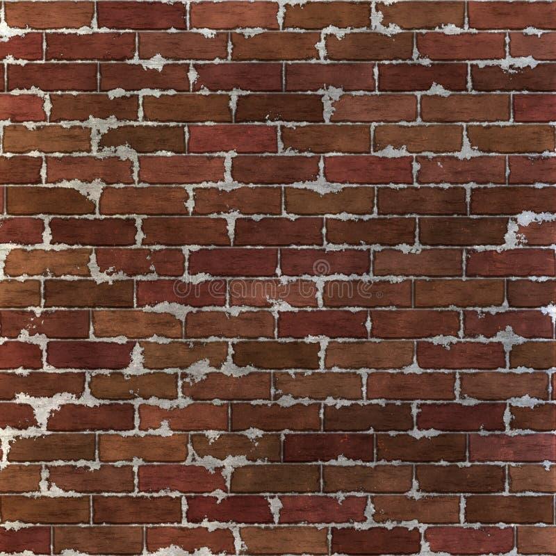 Teste padrão sem emenda da parede de tijolo ilustração royalty free
