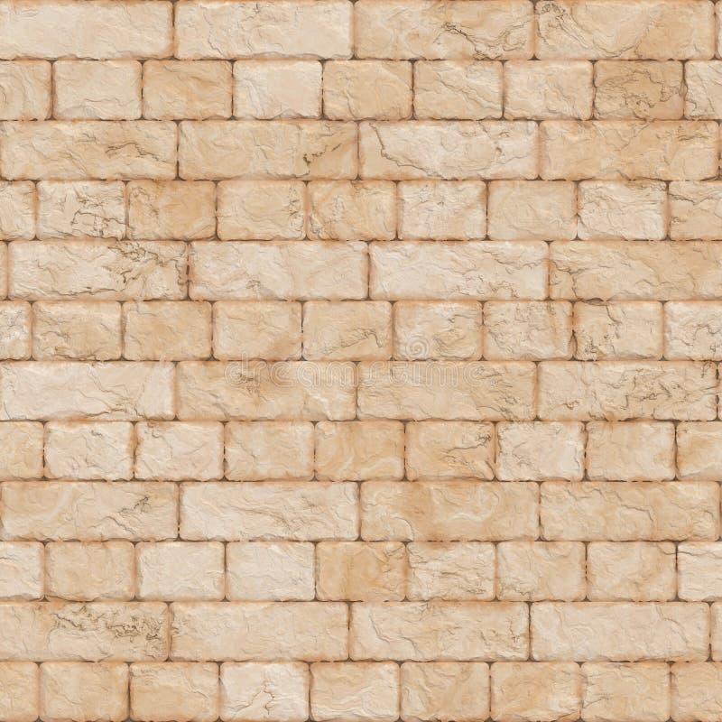Teste padrão sem emenda da parede de tijolo foto de stock