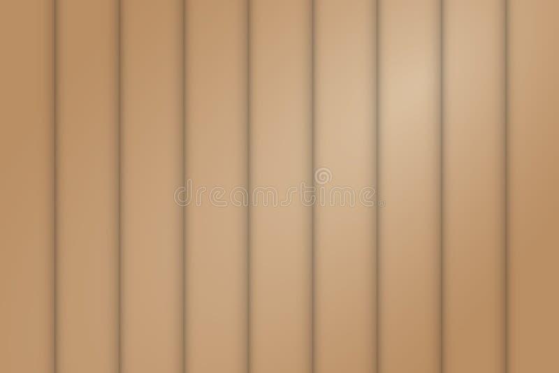 Teste padrão sem emenda da parede de Woods da cerca pequena de Brown com a luz no fundo direito superior ilustração stock