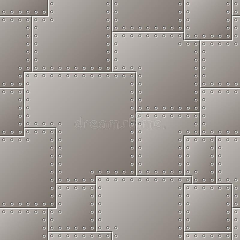 Teste padrão sem emenda da placa de aço ilustração do vetor
