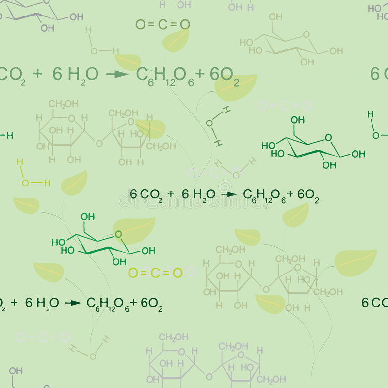 Teste padrão sem emenda da química ilustração royalty free