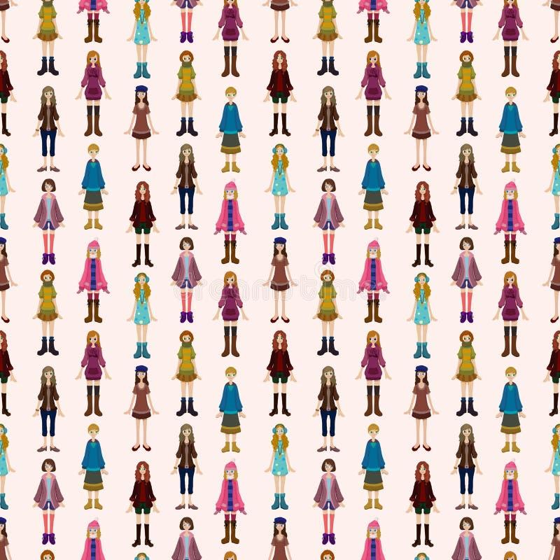Teste Padrão Sem Emenda Da Rapariga Imagens de Stock Royalty Free