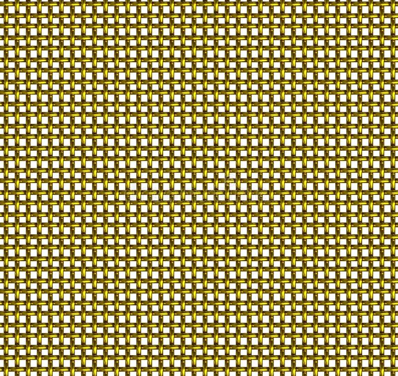 Teste padrão sem emenda da rede de arame dourada foto de stock