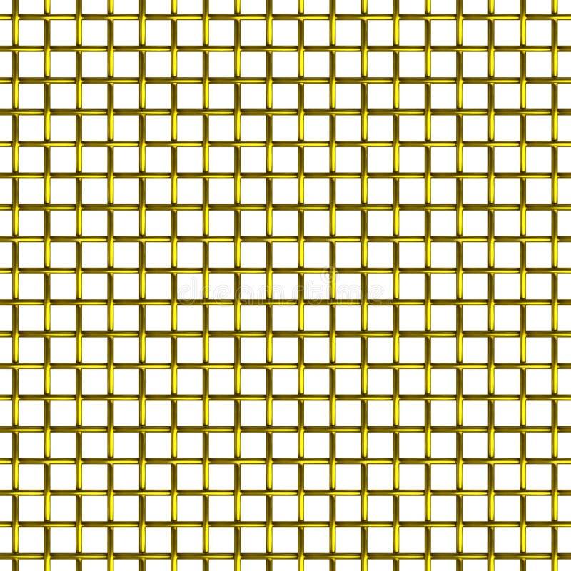 Teste padrão sem emenda da rede de arame dourada foto de stock royalty free