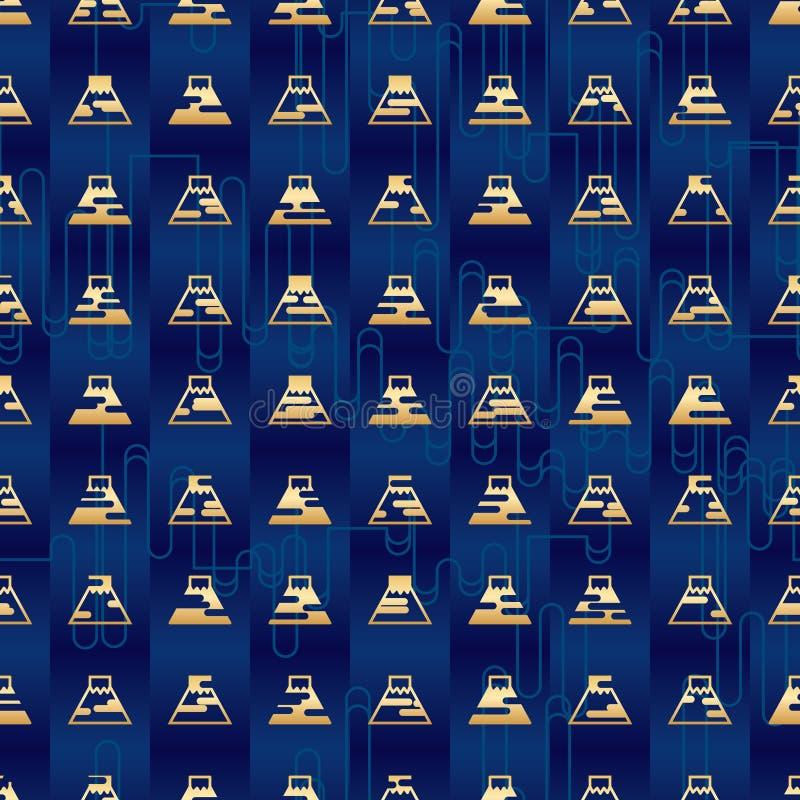 Teste padrão sem emenda da simetria de Japão Fuji ilustração royalty free