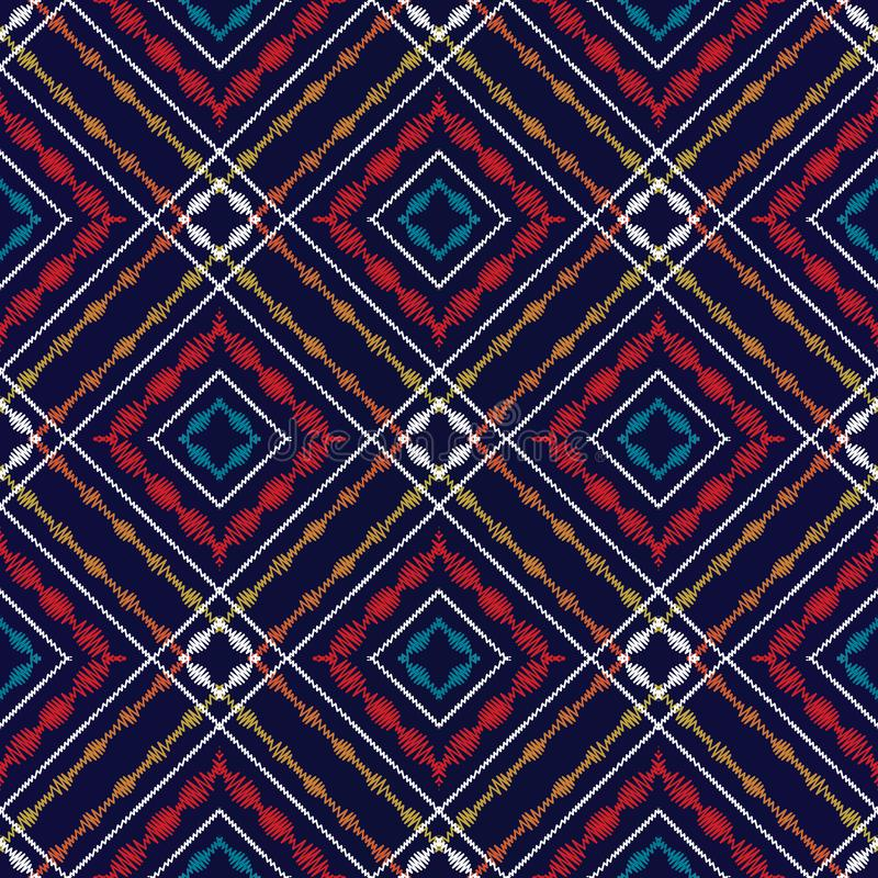 Teste padrão sem emenda da tartã da tapeçaria Backg verificado geométrico do vetor ilustração royalty free