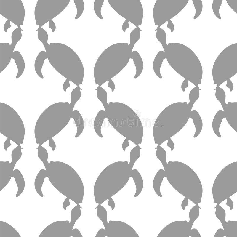 Teste padrão sem emenda da tartaruga do oceano ilustração royalty free