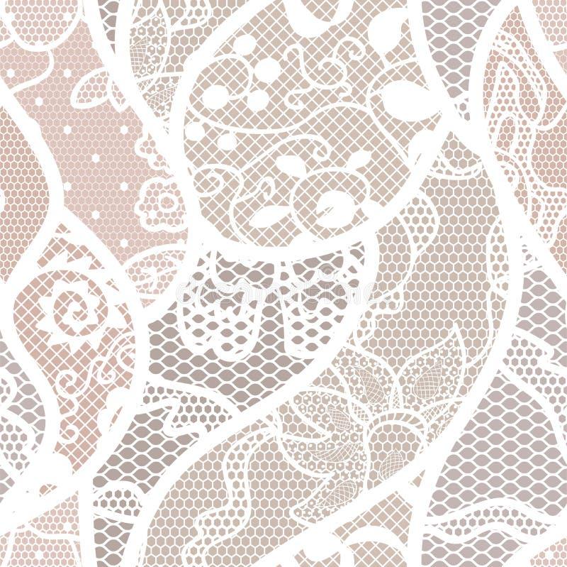 Teste padrão sem emenda da tela do vetor do laço ilustração royalty free