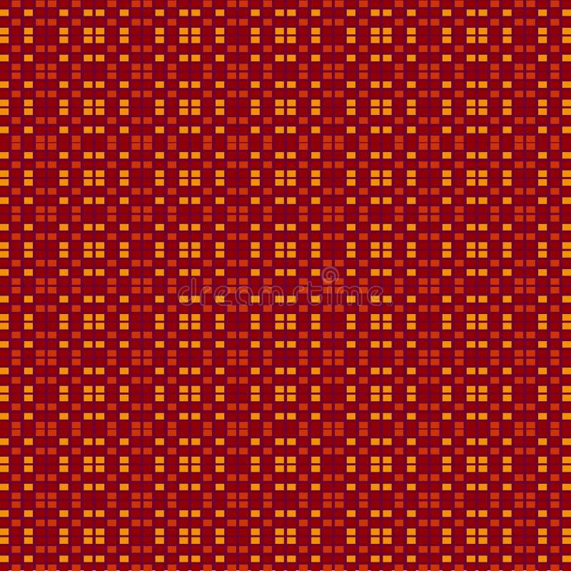 Teste padrão sem emenda da telha ilustração do vetor