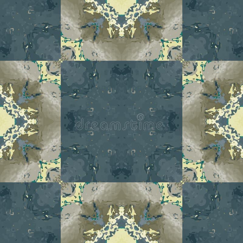 Teste padrão sem emenda da telha biomorphic semi transparente ilustração stock