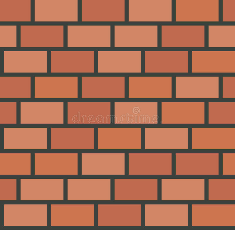 Teste padrão sem emenda da telha da parede de tijolo do vetor ilustração royalty free