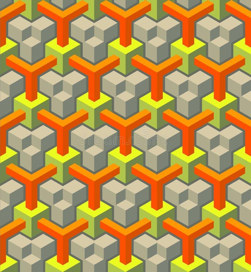 Teste padrão sem emenda da textura ilustração do vetor