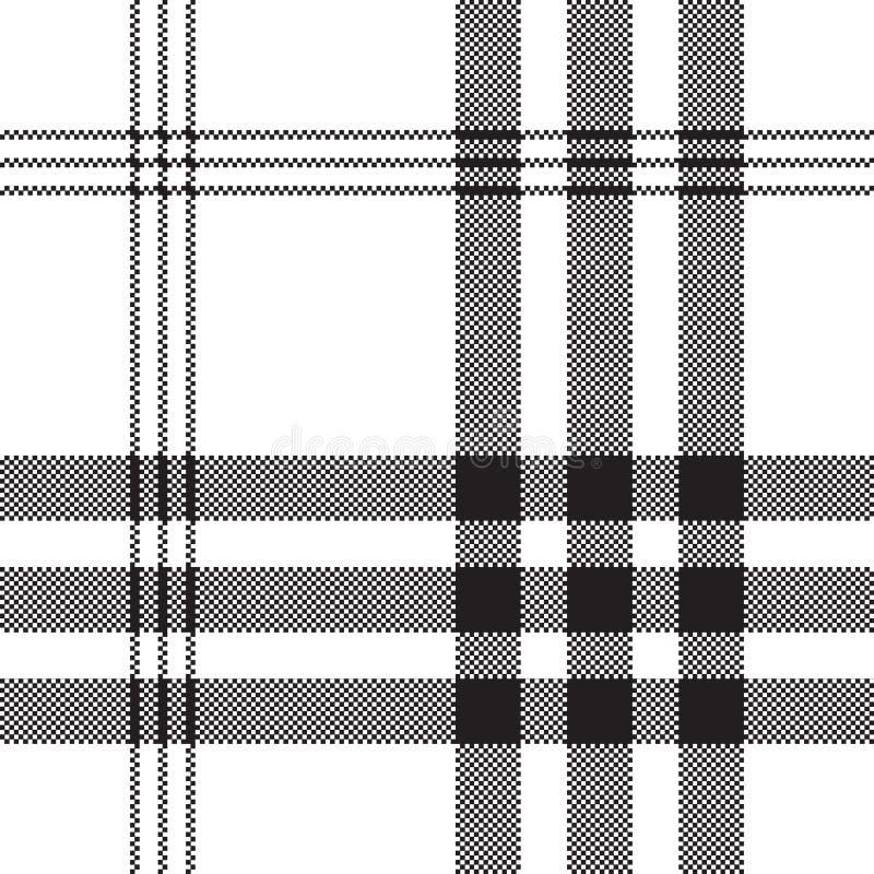 Teste padrão sem emenda da textura branca preta da tela do quadrado do pixel da verificação ilustração royalty free