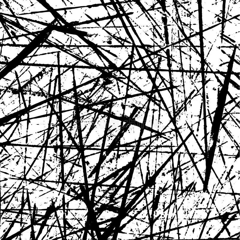 Teste padrão sem emenda da textura da pintura do vetor do Grunge ilustração do vetor