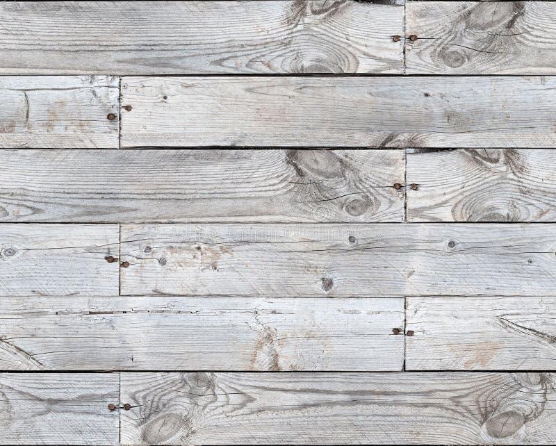 Teste padrão sem emenda da textura das pranchas de madeira cinzentas imagens de stock