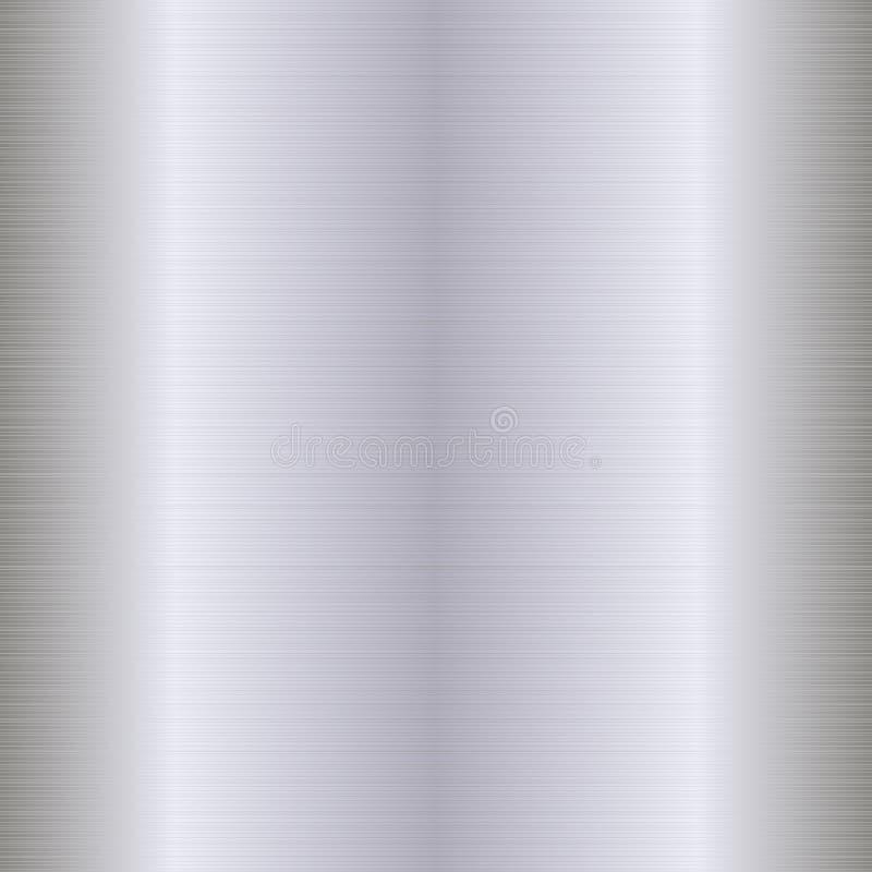 Teste padrão sem emenda da textura de prata Realístico claro, brilhante Decoração abstrata do metal ilustração royalty free